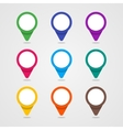 Set of colorful map pointer in flat style and vector image