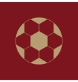 The football icon Soccer symbol Flat vector image