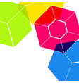 abstract digital geometric flat background with vector image vector image