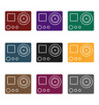 action camera icon in black style isolated on vector image