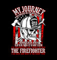 american firefighter vector image vector image