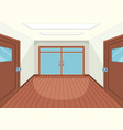 an empty room interior vector image