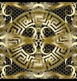 ancient gold greek 3d seamless pattern vintage vector image vector image