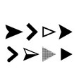 arrow icons direction pointers symbols vector image vector image