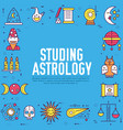 astrology house icons outline design vector image