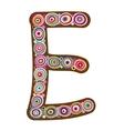 Beautiful letter E vector image