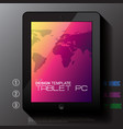 black tablet pc with map vector image