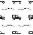 camping pattern design - adventure retro car vector image vector image