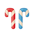 Candy cane icon in flat style vector image