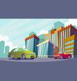 cartoon an urban landscape vector image vector image