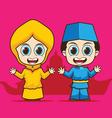 Cartoon Asean Brunei vector image vector image