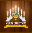 christmas candle bridge vector image vector image