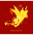 christmas card angel vector image