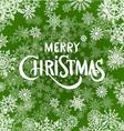 Christmas Typographic Background Set Merry vector image
