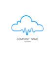 cloud pulse logo vector image vector image