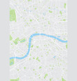 colored plan map of london aerial view vector image