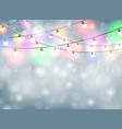 colorful lamp christmas background with snowflakes vector image vector image