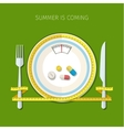 Concept for dieting vector image vector image