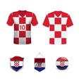 croatia soccer jersey vector image vector image