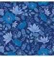Dark night flowers seamless pattern background vector image vector image