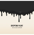 Dripping paint seamless border vector image vector image