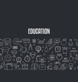 education design concept education design concept vector image vector image