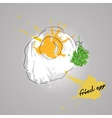 egg with color splash vector image vector image