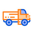 farmland delivery truck thin line icon vector image