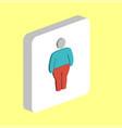 fat man obesity computer symbol vector image vector image