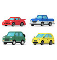 flat of cars in orthogonal vector image vector image