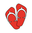 flip flops sandals icon image vector image vector image
