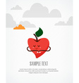 fruits and apple vector image vector image