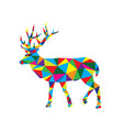 geometric deer vector image