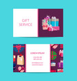 gift service shop business card template vector image vector image