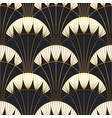 gold black art deco architecture seamless pattern vector image vector image