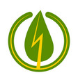 green energy sign icon green leaf with a vector image