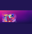 grooming salon concept banner header vector image vector image