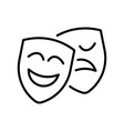 happy and unhappy theatrical mask icon