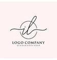 il initial handwriting logo design vector image vector image
