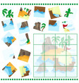 jigsaw puzzle game for children cartoon with vector image vector image