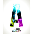 Letter A vector image vector image