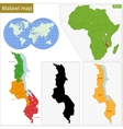 Malawi map vector image vector image