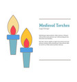 medieval colorful logo emblem template flat style vector image vector image