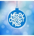 Merry Christmas magical card design vector image vector image