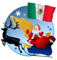 Merry Christmas Mexico vector image vector image