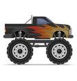 monster truck 01 vector image vector image