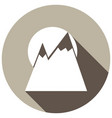 mountain icon with a long shadow vector image vector image