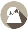 mountain icon with a long shadow vector image vector image