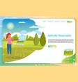 nature paintings landing page website vector image vector image