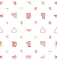 orchestra icons pattern seamless white background vector image vector image